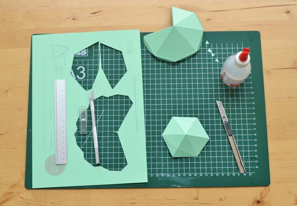 Diamonds papercraft template – Free! – Studio Lise Lefebvre